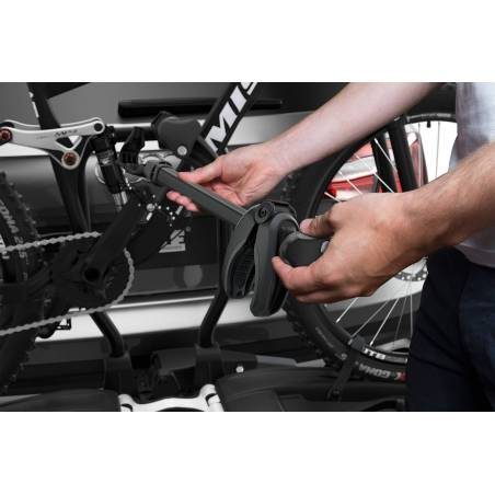 Bras de fixation amovibles avec limitateur de couple de serrage Thule ActuTight verrouillable.