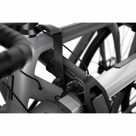 Porte-vélos sur hayon Thule OutWay Hanging 2 vélos, détail vérouillage vélo – YGGOR