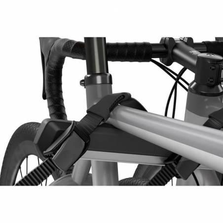 Porte-vélos sur hayon Thule OutWay Hanging 3, détail de fixation cadre de vélo – YGGOR