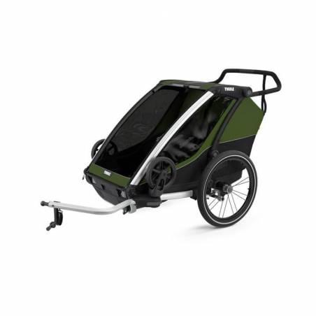 Remorque vélo Cab 2 Thule modèle 2021, Vert cyprès – YGGOR