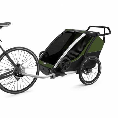 Remorque vélo Cab 2 Thule modèle 2021, couleur Vert cyprès – YGGOR