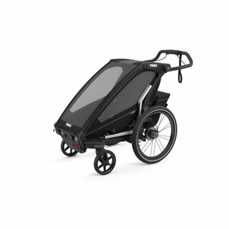 Le modèle 2021 Sport 1 Midnight Black remorque vélo Thule en mode poussette – YGGOR
