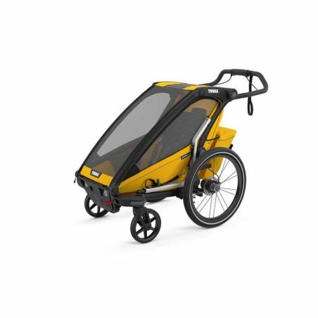 Le modèle 2021 Sport 1 Spectre jaune remorque vélo Thule en mode poussette – YGGOR