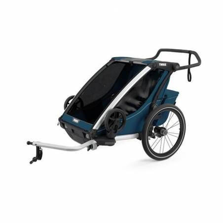 Remorque vélo Cross 2 Thule bleu majolique - YGGOR