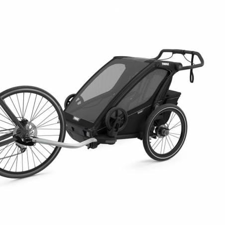 Remorque Thule sport 2 noire attachée au vélo  - YGGOR