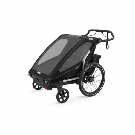Un pack pour parents sportifs de 2 enfants : le nouveau modèle de la remorque Chariot Sport 2, les kits ski et jogging.3 en 1 : remorque vélo, poussette de jogging haute performance et pulka de ski de fond.