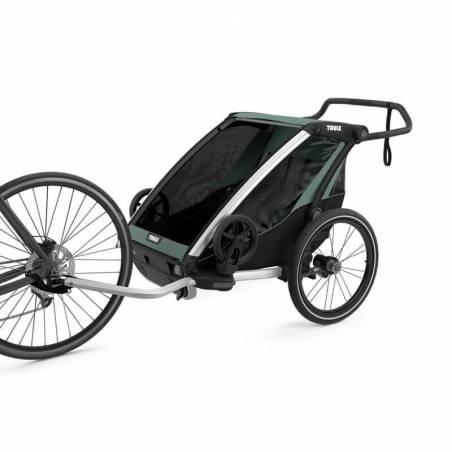 Remorque Thule Lite 2 attachée au  vélo  - YGGOR