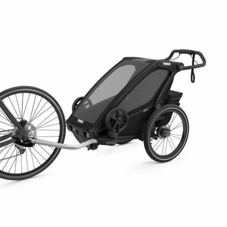 Le pack vous permettant de faire du sport avec votre bébé de 1 à 10 mois comprenant le nouveau modèle de remorque vélo Sport 1 Thule.