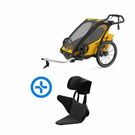 Le pack qui vous permet de faire du sport avec votre bébé de6 à 18 mois avec le nouveau modèle de remorque véloSport1 Thule