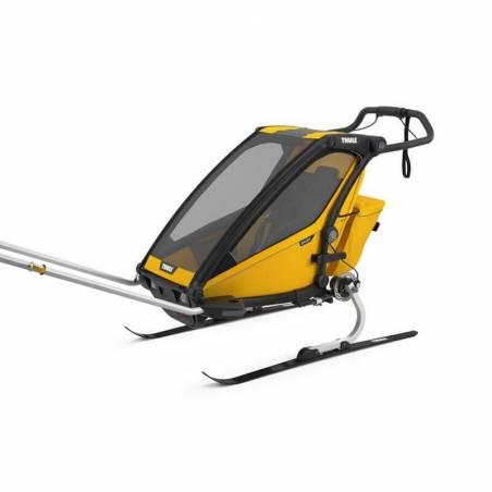 LE pack du sportif ferru de ski : la remorque enfant Chariot Sport 1 modèle 2021 + le kit ski + le duvet.