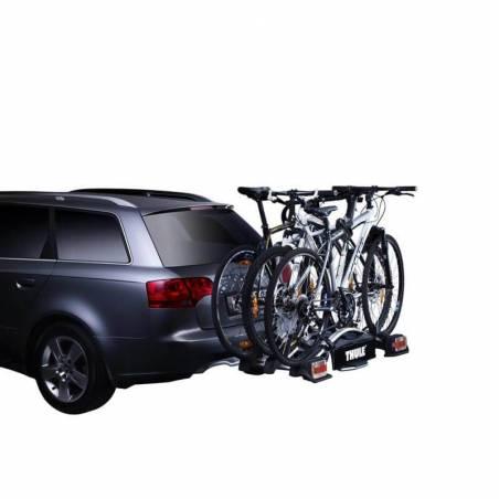 Le porte-vélos EuroWay G2 923 Thule s'installe sur la boule d'attelage pour transporter  3 vélos - YGGOR