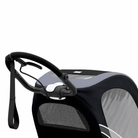 Guidon ergonomique de la poussette sportive Cybex Zeno, modèle All Black - YGGOR