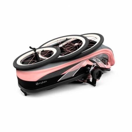Pliage compact de la poussette sportive Cybex Zeno, modèle Rose - YGGOR