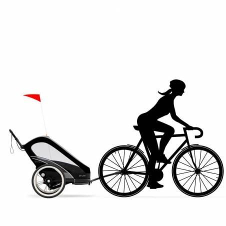Remorque vélo Cybex Zeno, modèle All Black - YGGOR