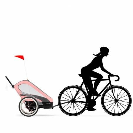 Kit velo pour transformer votre poussette multisport ZENO CYBEX version rose en remorque vélo - YGGOR