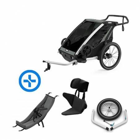 Pack YGGOR bébé lite 2 : remorque vélo Thule Lite 2 + hamac + support enfant + kit jogging