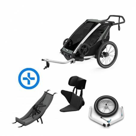 Pack YGGOR bébé lite 1 : remorque vélo Thule Lite 1 + hamac + support enfant + kit jogging