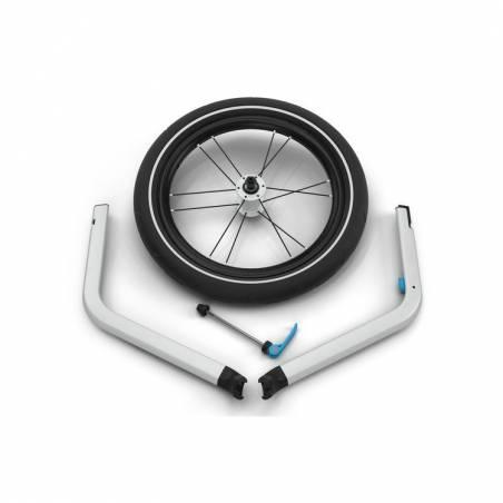 Le nouveau modèle de laremorque vélo Chariot Cross 2 + le kit jogging.