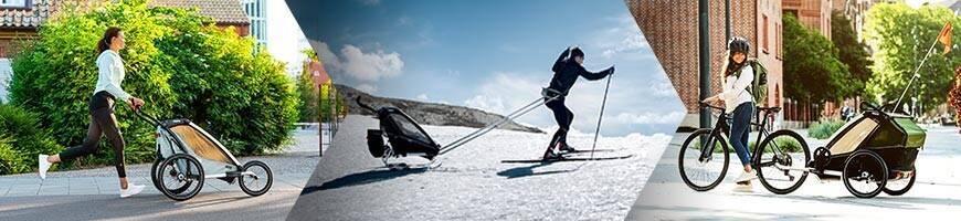 Pack Remorque Vélo THULE Enfants - Jogging, Ski, Ville + Accessoires